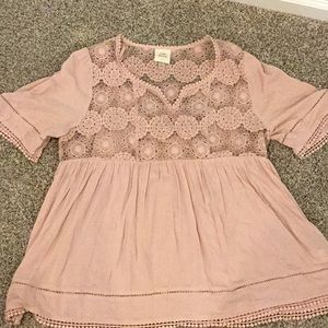 Knox Rose Tops - Flirty embroidered peasant top